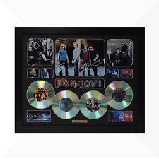 Bon Jovi Signed & Framed Memorabilia - 4 CD - Black - Limited Edition