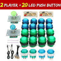 LED Arcade Game DIY Player USB Controller Joystick LED Light Push Button Switch