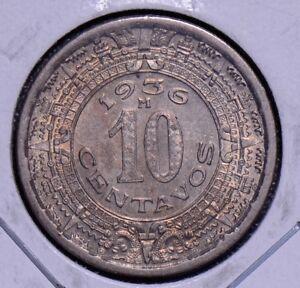 Mexico 1936 10 Centavos BU M0061 combine