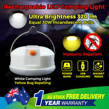 LED Hiking Camping Tent Lantern Light USB Rechargeable Power Bank Torch Mosquito