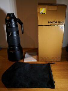 Nikon AF-S Nikkor 200-500mm f/5.6E ED VR Lens in excellent condition