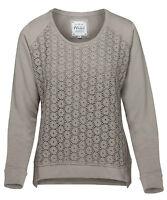 Mistral size 12 RRP £54 Dove Daisy Lace Beige Tan Brown Sweatshirt Top