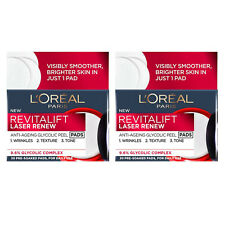 2 X L'Oreal Revitalift Glycolic Acid Peel Pads 30's Anti-Ageing - only £19.99!!