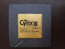 1X CYRIX III VIA 650MHZ  VINTAGE CERAMIC CPU FOR GOLD SCRAP RECOVERY RARE ``