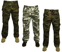 Mens Military Combat Trousers Casual Camouflage Cargo Camo Army Work Jean Pants