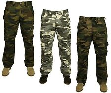 MENS KING SIZE NEW CARGO COMBAT TROUSER IN GREY CAMO DARK KHAKI COLOURS 50 TO 70