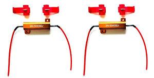 2x Widerstände Lastwiderstand mit Kabelklemmen 24V 50W 30Ω Ohm f.LED Rückleuchte