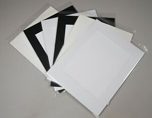 """15 x Professional Picture Framing Mat Boards 8x10"""" with 5x7"""" Window Mount Kits"""