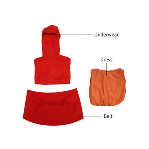 DFYM Star Wars Cosplay Padmé Amidala Costume Orange Dress Red Hoodie Fancy Dress