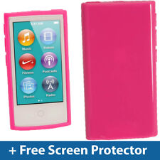 Pink Glossy TPU Gel Case for New Apple iPod Nano 7th Generation 7G Cover Shell
