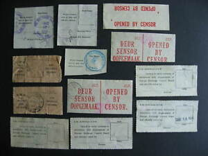 Censored, Damaged in Transit, Secured etc 12 labels used, worth a look!