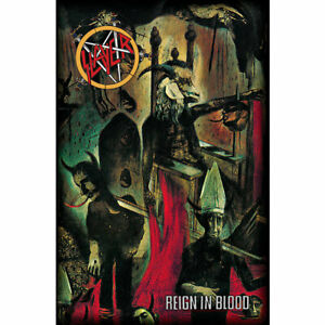 SLAYER - REIGN IN BLOOD - FABRIC POSTER FLAG - 27x42 MUSIC TP250