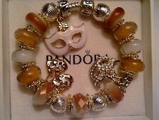 Authentic Pandora Sterling Silver Bracelet with (Murano Beads) 7.5 inches