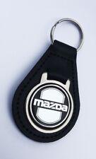 Leather Keyring for Mazda RX7 RX8 Eunos Roadster MX5 Miata