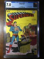 Superman #48 (1947) - 1st Time Travel! Lex Luthor! - CGC 7.0! - Golden Age!
