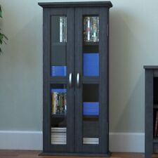 Ryan Rove Kirkwell 41 Inch Wood Dvd Media Storage Tower in Charcoal