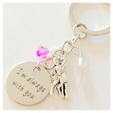 Bambi-Inspired Silver Keychain I'm Always with You Gift of Love