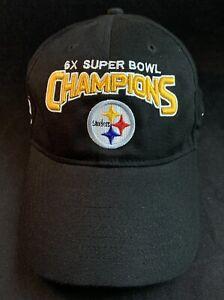 Pittsburgh Steelers 6x Super Bowl Champions One Size Reebok Hat Cap NFL