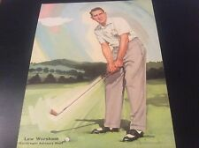 Lew Worsham Golf Photograph Color Art MacGregor Staff
