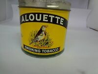 VINTAGE TOBACCO TIN ALOUETTE CANADA  TOBACCO TIN ADVERTISING  CANISTER 723