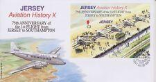 Unaddressed Jersey Cover FDC 2009 Aviation History X Southampton Flight Sheet