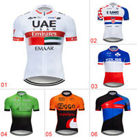 Men's Short Sleeve Cycling Jersey Bike Riding Tops Shirt Maillot Jersey Clothing