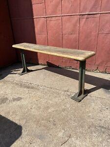 1930s Pollard Bros Cast Iron Bench Industrial Entryway Chicago IL Porch Factory