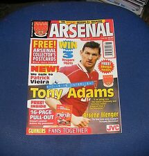 ARSENAL - THE OFFICIAL MAGAZINE OCTOBER 1997 - TONY ADAMS INTERVIEW