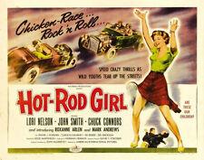 "Hot-Rod Girl Poster Replica Print 14 x 11"""