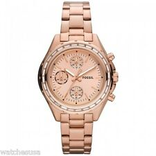 New Fossil Women's CH2826 Dylan Rose Gold-Tone  Chronograph Watch