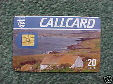 1990 Telecom Eireann Callcard Cottage Gold Chip - USED