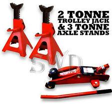 2 Tonne Ton Hydraulic Trolley Jack Car Van & 2 3T Ratchet Axle Stands repair kit