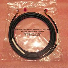 LOT OF 10 NEW 11 FT SPEEDFLEX FLEXIBLE RF COAXIAL CABLE w/ MALE SMA CONNECTORS