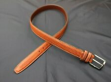 """Mens Orvis American Bison Leather Made in USA Tan Belt 40 1 3/8"""""""