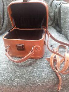 Vintage leather vanity case