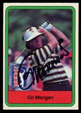 Gil Morgan #18 signed autograph auto 1982 Donruss Golf Trading Card
