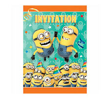 Despicable me Minions party Supplies Invitations & Envelopes Pack Of 8 Genuine