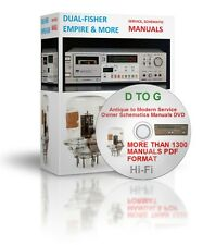 .D To G Hi-Fi Antique to Modern Service Owner Schematics Manuals DVD