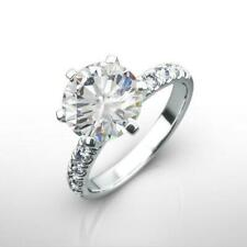 White Gold Awesome Vs1 D 1.5 Ct Certified Diamond Ring Round Certified 14 Karat