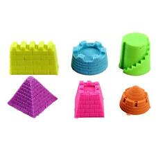 6Pcs Space Sand Toy Play Sand Clay Mold Set Castle Model Children's Indoor Toy