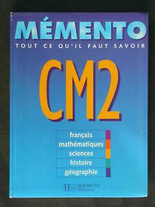 Mémento CM2 - Hachette éducation Révisions programme Primaire Cycle 3