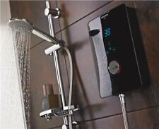 Bristan Bliss 3 10.5KW Electric Shower Black with LCD and Riser Rail BL3105B