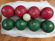 Vintage Sportcraft Heritage Bocce 3 lb Ball Set Of 8
