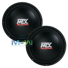 "(2) MTX AUDIO TN12-04 12"" TERMINATOR Series 4-OHM CAR SUBWOOFERS SUBS *PAIR*"