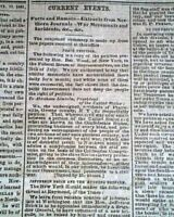 BURNING OF HAMPTON Virginia 1861 Civil War CONFEDERATE Capital Old Newspaper