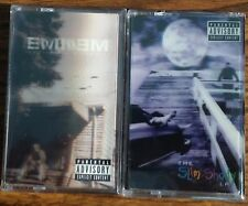 Eminem SLIM SHADY LP + MARSHALL MATHERS LP Lenticular NEW 2 CASSETTE TAPE BUNDLE