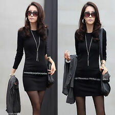 Polyester Crew Neck Long Sleeve Formal Dresses for Women