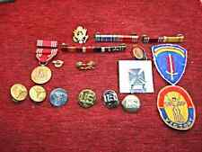 U.S. MILITARY - GROUP OF PINS, PATCHES, & MEDAL - HAVE A LOOK