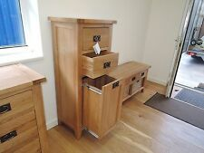 VANCOUVER PETITE SOLID OAK 3 DRAWER LAUNDRY STORAGE UNIT NB081/ SPECIAL OFFER