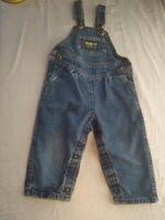 Vintage OshKosh B'Gosh Denim Overalls Toddler 24 months  2T Vestbak Made in USA